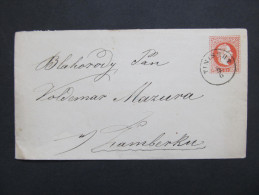 GANZSACHE Tinischt - Zamberk Senftenberg   //// D*18207 - Briefe U. Dokumente