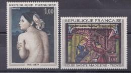 N° 1530 à 1531 Oeuvres D´Arts: Dominique Ingres, Vitrail De L´Eglise Ste Madeleine Troyes :Timbres Neufs Sans Charnière - Unused Stamps