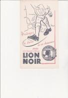 BUVARD ILLUSTRE -  LION NOIR -CIRAGE CREME - Shoes