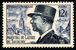 FRANCE 1954 - Yv. 982 ** Variété  Cote= 2,30 EUR - Maréchal De Lattre De Tassigny ..Réf.FRA28240 - France