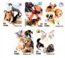 E) 2001 CUBA, DOGS AND CATS, SET - Kuba