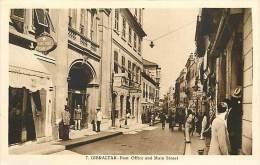 V-15 - 147 :  GIBRALTAR POST OFFICE AND MAIN STREET - Gibraltar