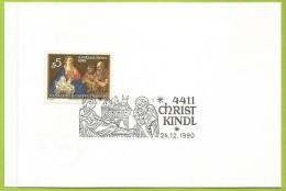 Autriche 1989 1806 CS Noël Johann Carl Von Resfeld Nativité Vœux Poste Autrichienne - Christmas