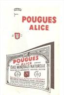 Buvard. POUGUES ALICE EAU MINERALE NATURELLE - Limonades