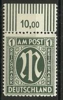 All.Besetzg., Bizone, A-M Post, Nr. 35 Bz, Postfrisch - American/British Zone