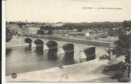 COGNAC , Le Pont De Saint Jacques , CPA ANIMEE - Cognac