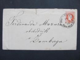 GANZSACHE Praha Mala Strana- Zamberk Senftenberg   //// D*18209 - Briefe U. Dokumente