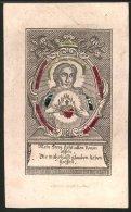 Präge-Heiligenbild Herz Jesu Christi, Entwurf Um 1780, Kupferstich, Bibelvers - Images Religieuses