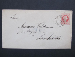 GANZSACHE Kosteletz A.Adl. - Zamberk Senftenberg   //// D*18220 - Briefe U. Dokumente
