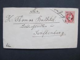GANZSACHE Prag - Zamberk Senftenberg   //// D*18228 - Briefe U. Dokumente