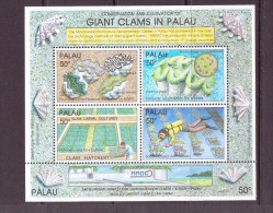 PALAU 1991 BLOC COQUILLAGES Scott N°294  NEUF MNH** - Palau