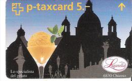 Telefoonkaart.- Zwitserland. Telecom. PTT. Taxcard 5.--Lo Specialista Del Gelato. 503L -    * Used * 2 Scans - Svizzera