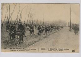 Franse Verkenners-cyclisten Op Weg Naar Ieper - Guerre 1914-18