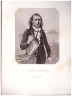 Gravure Sur Acier, Originale (figures De La Révolution) : L'ABBE GREGOIRE (PPP1618) - Autres Collections