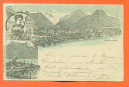 "Suisse - Berne  "" Interlaken - Gruss Aus Dem Berner Oberland  "" Lithographie Heinrich Schlumpf - Carte Precurseur - BE Berne"
