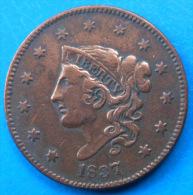 Etats-Unis United States 1 Cent 1837 Km 45 - 1816-1839: Coronet Head (Testa Coronata