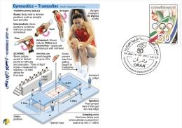 ALG Algérie N° 1666 Jeux Olympiques Comitée Olympique Algérien Gymnastique Trampoline - Gymnastik