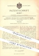 Original Patent - Vetschau - Weissagker Landw. Maschinenfabriken & Eisengiesserei A. Lehnigk , 1895 , Pferde - Rechen !! - Historische Dokumente