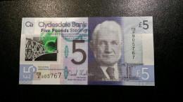 SCOTLAND 5x 5 POUNDS CLYDESDALE BANK 2015 P-NEW POLYMER UNC - [ 3] Scotland