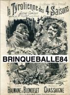 PARTITION XIX SUR L AMOUR TYROLIENNE DES 4 SAISONS BAUMAINE BLONDELET CHASSAIGNE ILL MEYER - Autres