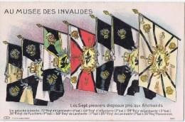 Cpa  Aux Musee Des Invalides LES SEPTS DRAPEAUX PRIS AUX ALLEMANDS - Museum