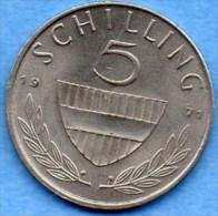 AUTRICHE / AUSTRIA  5 SCHILLING 1971 - Autriche