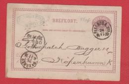 Suède //  Entier Postal //  Pour Kofenhammk  //  24/11/1880 - Entiers Postaux