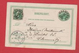 Suède //  Entier Postal //  De Hameltad  //  Pour Chemnitz  //  20/06/1894 - Entiers Postaux
