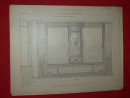 ARCHITECTURE ART DECO 1900 METIER COMMERCE DEVANTURE FACADE   EDITION LIBRAIRIE E THEZARD A DOURDAN - Architecture