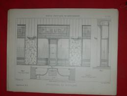 ARCHITECTURE ART DECO 1900 METIER MENUISIER COMMERCE DEVANTURE FACADE FLEURISTE  EDITION LIBRAIRIE E THEZARD A DOURDAN - Architecture