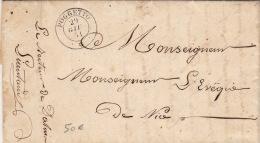 Lettre CaD Poggetto (Le Puget) Comté De Nice 1851 >> Mr Lévêque De Nice - Sardaigne