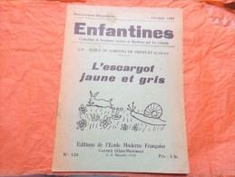 L'escargot Jaune Et Gris Collection Illustrees Par Les Enfants-cp Ecole De Garcons De Viroflay N°120  Fevrier 1947 - 6-12 Ans