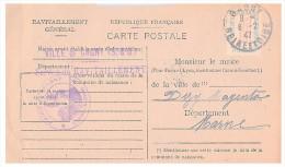 1946.SEINE-ET-OISE Mairie De GAGNY. Carte De Ravitaillement Général. CP + Timbre Franchise.   / 81 - Marcophilie (Lettres)