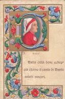 DANTE-BELLA CARTOLINA GAUFFREE-VIAGGIATA 27/10/1903-VEDI 2 SCAN - Fantasia