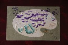 BONNE FETE - Palette Tissu Et Gaufrée - Brodées