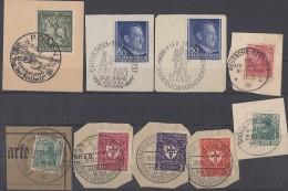 DR Lot Briefstücke SST, Flugpost, Seepost, SST, Bpst. Ansehen !!!!!!!!!!!!!! - Briefmarken