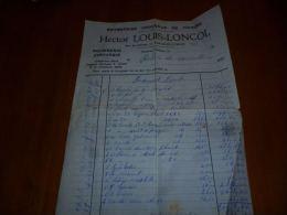 FF2 LC138 Facture Plomberie Zinguerie Hector Louis Loncol Fontaine L'Evêque 194? Rue De Leernes 21 - 1900 – 1949