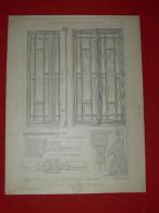 ARCHITECTURE ARTDECO 1900 METIER MENUISIER COMMERCE DEVANTURE OUVERTURES LES CROISES  EDITIION E THEZARD A DOURDAN - Architecture
