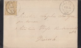 Schweiz Trauerbrief EF Minr.29 Elgg 4.4.78 Gel. Nach Zürich Mit Inhalt - Cartas
