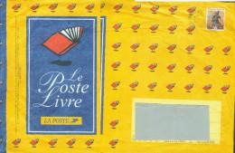 France Entier-P Obl (Yv:2841-E) Plaisir D´écrire Le Poste Livre (Beau Cachet Rond) Grand Format - Postal Stamped Stationery