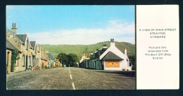 SCOTLAND  -  Straiton  Main Street  Unused Postcard As Scan
