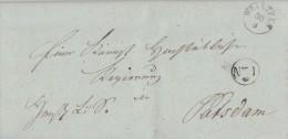 Brief K1 Wrietzen 30.8.1838 Mit Inhalt Gel. Nach Potsdam - Deutschland