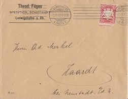 Bayern Brief EF Minr.56 Maschinen-Stempel Ludwigshafen 3.9.09 - Bayern