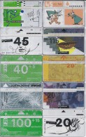 Telefoonkaarten.- 10 Verschillende Telefoonkaarten. 2 Scans - Telefoonkaarten