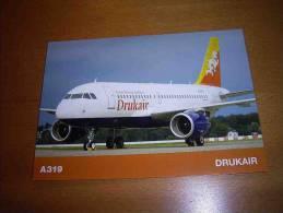 CPM Avion DRUKAIR AIRBUS A319 Royal Bhutan Airlines - 1946-....: Era Moderna