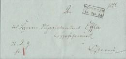 Brief Zackenrechteckstempel Göttingen 18.2.1822 Ansehen !!!!!!!!!!!!! - Deutschland