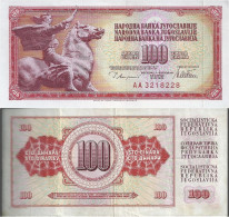 Yugoslavia - Pick 90 - 100 Dinara / Dinarjev / Dinari (1978,1981,1986) Fine - Yugoslavia
