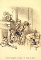 CPM Collection POULBOT - Menus Le Cornet 290° Diner 1931 - Encore Un Petit Frère Pour Le Mois De Juillet - 2 Scans - Poulbot, F.