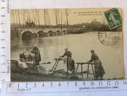 CPA (49) Maine Et Loire - LES PONTS DE CE - Le Grand Pont Sur Le Louet - Lavandières - Les Ponts De Ce
