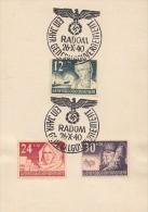 GG Sonderkarte Mif Minr.56-58 SST Radom 26.10.40 Ein Jahr GG - Besetzungen 1938-45